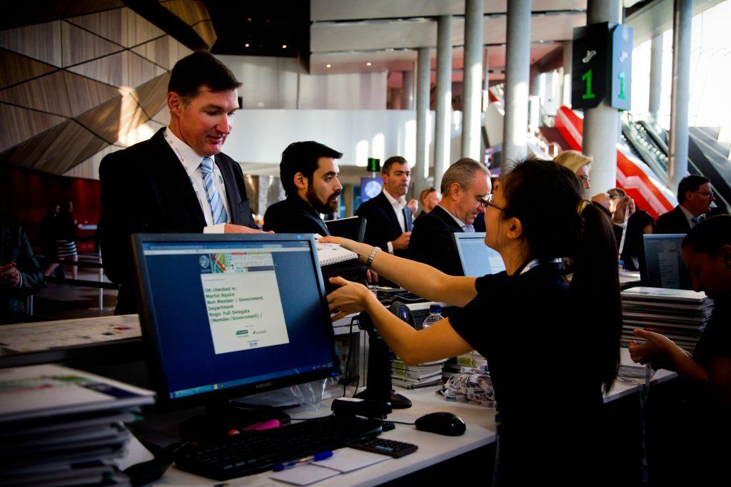 Registration, APPEA 2015 Conference, Melbourne, Monday 18, 2015. Copyright Photo: Patrick Hamilton/APPEA